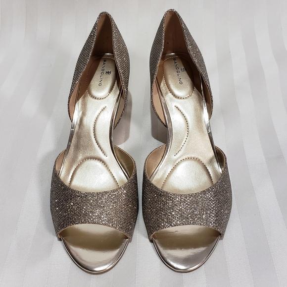 663fa741a721e Bandolino Shoes | Glittered Wedding Kitten Heels | Poshmark